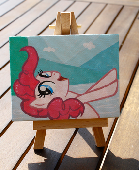 Tiny Pinkie Pie Canvas Painting! by Timatae