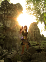Lara Croft on Cambodia by fernandobuson