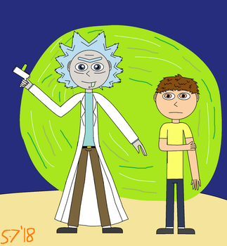 Anime Style Rick and Morty by schumacher7