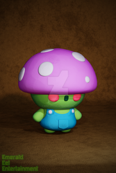 Little Mushroom Man (3D) (Wallpaper) by EEEnt-OFFICIAL