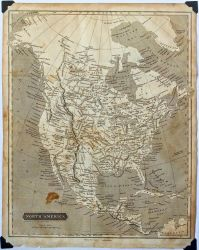 STOCK: 1823 Antique Map of North America by netzephyr