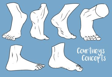 Feet Set 1 by CourtneysConcepts