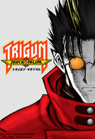 Trigun Maximum: Vash (high contrast) by EdenEvergreen