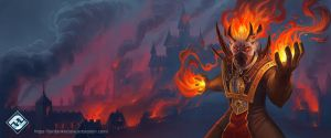 Fire Mage by JordanKerbow