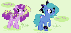 MLP Adoptables : OPEN 1/2 by doggie31