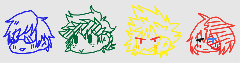 Terrible BNHA Doodles by FriskGaster