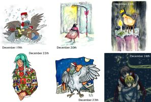 Hatoful Advent Calendar 19-24 by Kiriska