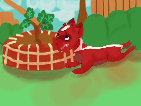 Chilling with the Sapling by Aniblue24