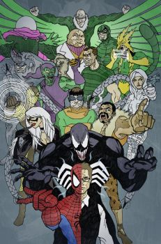The Amazing Spider-Man and his Rogues Gallery by jerryma