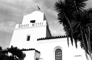 San Diego Mission at Dusk by melanicus