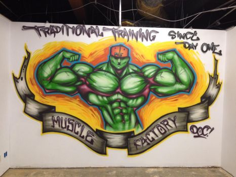 Muscle factory  by Thehuntedartist