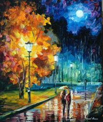 Romantic Night by Leonid Afremov by Leonidafremov