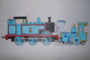 Thomas and Tillie kissing by sgtjack2016