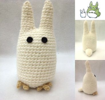 white Totoro by A-Lime