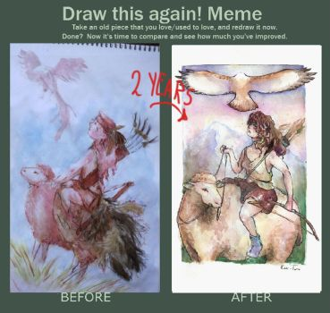 before and after meme by kami-tama