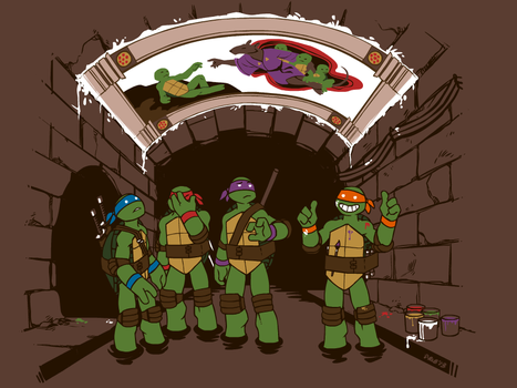 TMNT shirt design 2: Sistine Sewers by Kobb