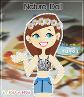 Nature Doll .PSD by NoemiTutos