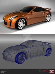 nissan 350z car by freestyle-art
