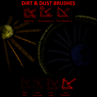 Dirt and Dust brushes by xTernal7