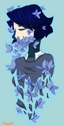Silence Child I drawing in ms paint by diamondpup