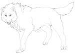 Free Wolf Lineart '2014' ( PNG ) by SpazDoodles