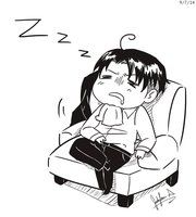 Sleepy Heichou by JauntyEyes