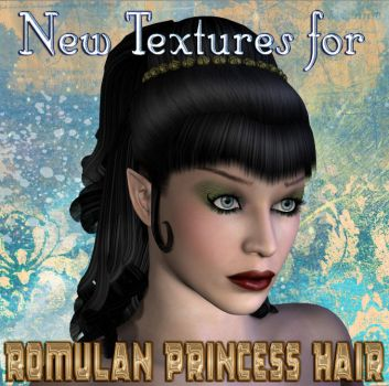 New Textures for Romulan Princess Hair by mylochka