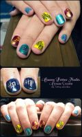 Harry Potter House Crests Nail by Talty