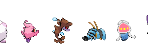 Skrelp and other gen6 pokemon's backsprites by Seiku88