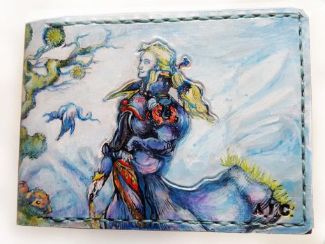 Edgar leather wallet by Bubblypies