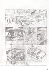 New Revised Bloodbat Page 1 Pencils by UltimateInker