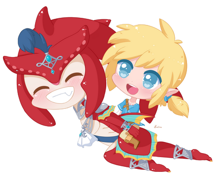 Sidon and Link by Exceru-Karina