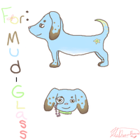Mud-glass puppy by TheDreamRunner