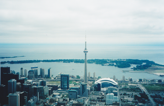 Toronto from a Helicopter by schtink