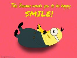 Despicable Me Minion - Smile by moonlight-fox