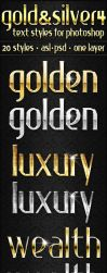Gold and Silver 4 - Text Styles by ivelt