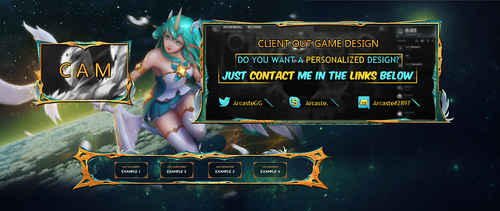 Client out game overlay  -  cyan and gold by Arcaste