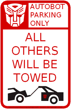 Autobot Parking Sign by Peleliu