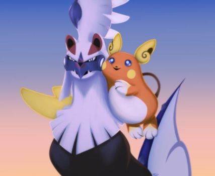 Silvally and Nui by BeagleTsuin
