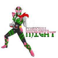 COMMISSION : Kamen Rider Might by RamenDriver