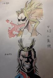 Tribute to the All Might, the Symbol of Peace by SolarFlare-Art