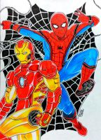 Spider-Man and The Iron-Man by RedWing99