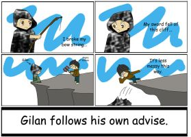 Gilan follows his own advice. by Redwind36