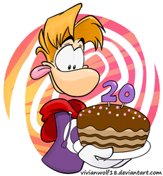 Happy 20th Birthday Rayman by VivianWolf18