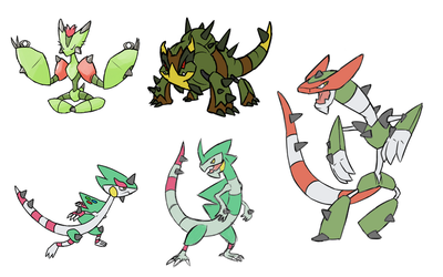 Grass Starter Final Stage Concepts by Marix20