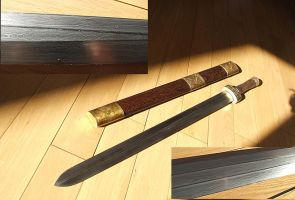 Chinese damascus Jan Sword 1 by ABNSmith