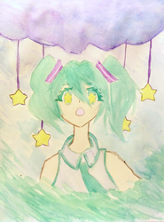 Miku Miku Starry Day by Momo-The-Unknown
