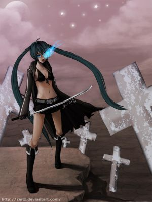 Miku - Black Rock Shooter by Zeitz