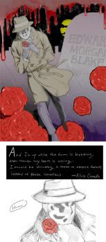WATCHMEN: Rorschach And Roses by zer03908