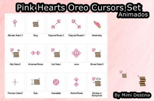 Kawaii Cute Pink Heart Oreo Cursors Cursores by SweetPinkGalaxy